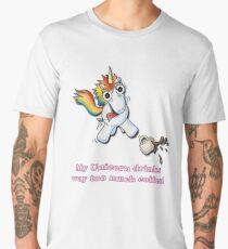 My Unicorn Drinks Way Too Much Coffee Men's Premium T-Shirt