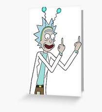 Rick and Morty-- Rick Finger Greeting Card