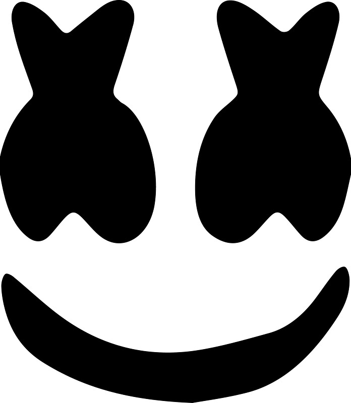 marshmello face stickers by noley12 redbubble. Black Bedroom Furniture Sets. Home Design Ideas