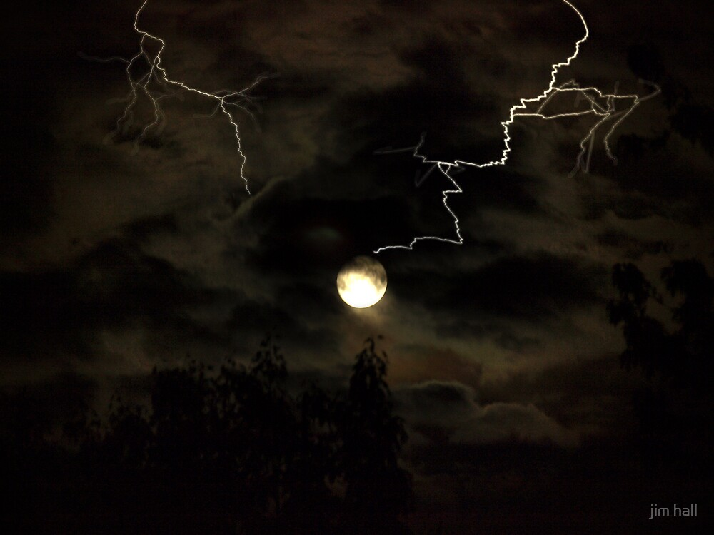 Full Moon Storm by jim hall