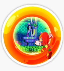 Yellow Chaos Ring Knuckles Sticker