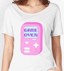 """Pastel """"Game Over"""" Video Game Women's Relaxed Fit T-Shirt"""