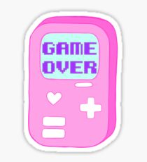 """Pastel """"Game Over"""" Video Game Sticker"""
