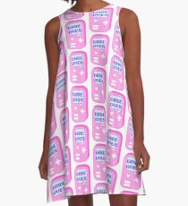 "Pastel ""Game Over"" Video Game A-Line Dress"