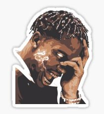 la flame travis rap Sticker