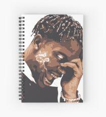 la flame travis rap Spiral Notebook