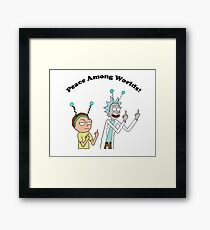Rick and Morty-- Peace Among Worlds Framed Print