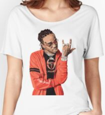 quavo fan art painting Women's Relaxed Fit T-Shirt