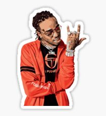 quavo fan art painting Sticker