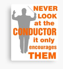 Funny Music Conductor Canvas Print