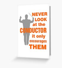 Funny Music Conductor Greeting Card