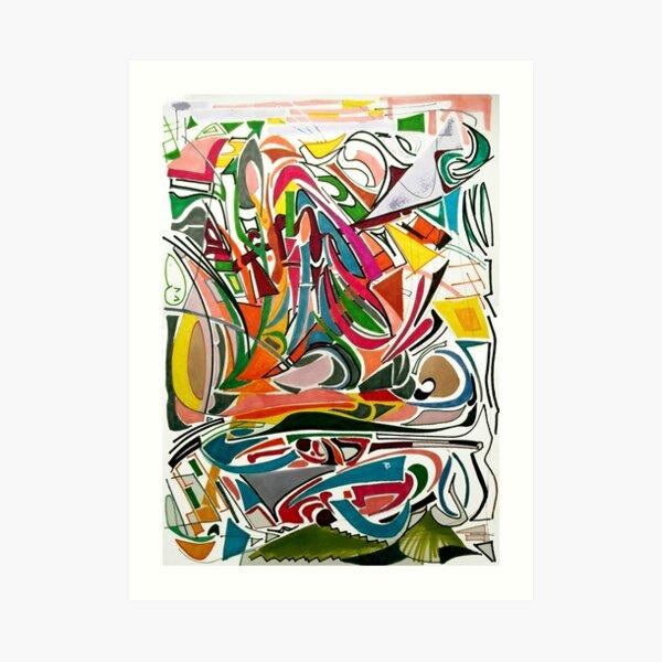 Cesar Manrique Moments 2 Art Print