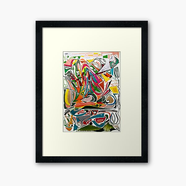 Cesar Manrique Moments 2 Framed Art Print