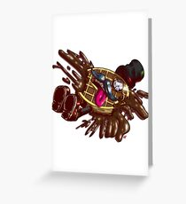 Sir Waffle Murdered  Greeting Card