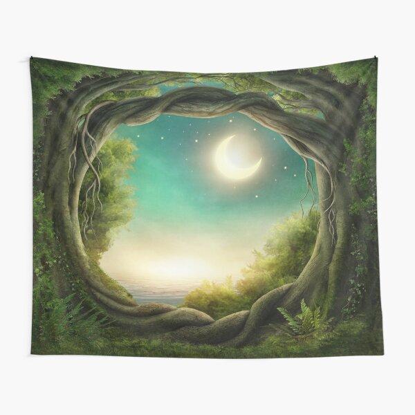Magic Moon Tree Tapestry