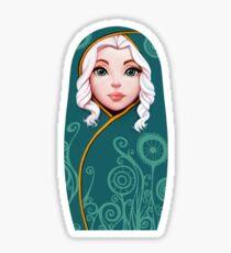 green Matrioshka Sticker
