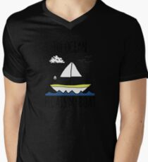 The Ocean Floats My Boat Mens V-Neck T-Shirt