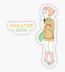"Pegatina Etiqueta engomada de la perla ""Sweater Mom"""