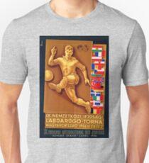 IX soccer tournament Hungary, 1956, vintage poster Unisex T-Shirt