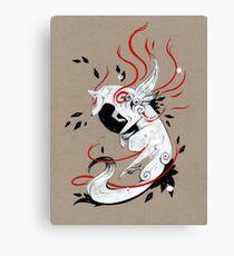 Okami Amaterasu RIBBONS Canvas Print