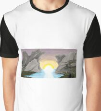 Fantasy landscape with nomads Graphic T-Shirt