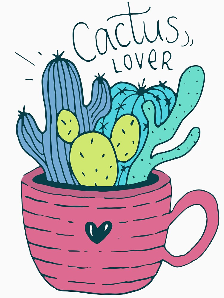 Cactus Lover Pink - Home sweet home by mirunasfia