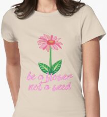 Flower Garden Daisy Womens Fitted T-Shirt