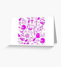 Buffy Symbology - Pink Greeting Card