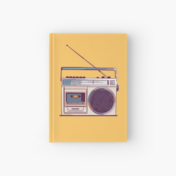 Retro Radio Boombox Hardcover Journal