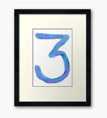 Chance the Rapper 3 Watercolor Framed Print