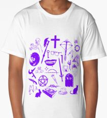 Buffy Symbology - Purple Long T-Shirt