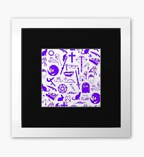 Buffy Symbology - Purple Framed Print