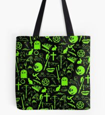Buffy Symbology - Green Tote Bag