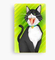 Screamin' Tuxedo Cat Canvas Print