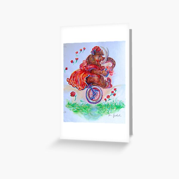 Lootie the Wooly Mammoth Greeting Card