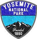 YOSEMITE NATIONAL PARK CALIFORNIA OVAL MOUNTAIN HIKING CAMPING CLIMBING by MyHandmadeSigns
