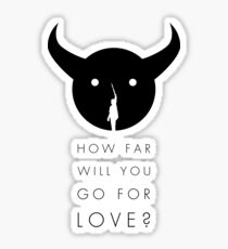 Shadow of the Colossus - Love black Sticker