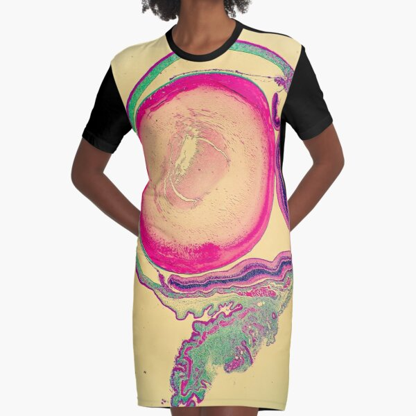 The Eye of the Beholder Graphic T-Shirt Dress
