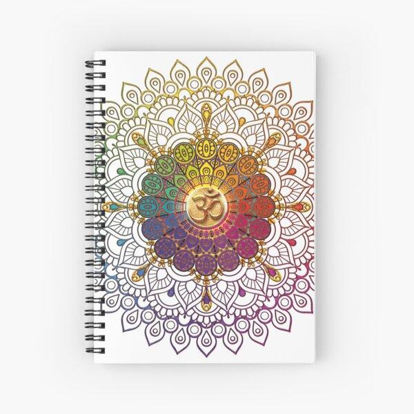 OM Rainbow Mandala Spiral Notebook