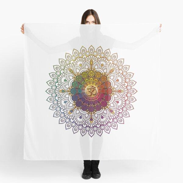 OM Rainbow Mandala Scarf