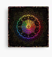 OM Rainbow Mandala Canvas Print