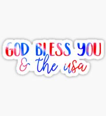 God Bless You & The USA Sticker