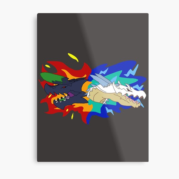 Monsters of the Land and Sea Metal Print