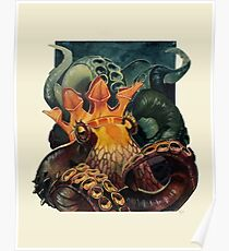 Octopus with a Crown Poster
