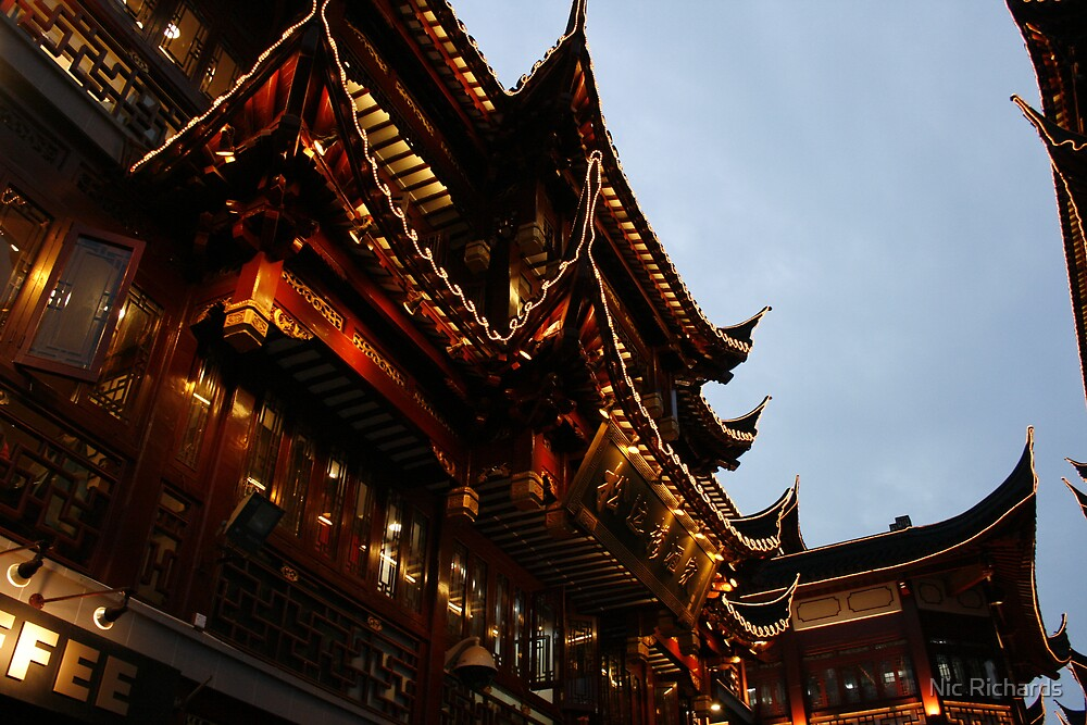 Chinese Building  by Nic Richards