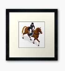 Equestrian Dressage Athlete Sport Framed Print