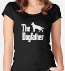 The Dogfather German Shepherd Dog  Women's Fitted Scoop T-Shirt