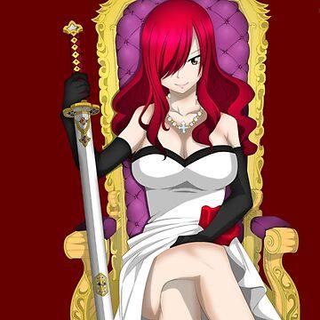 Queen of thrones- Erza Scarlett by xAurom