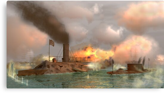 Battle of the Ironclads by Walter Colvin