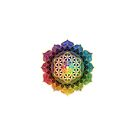 Rainbow Flower of Life with Lotus by Lilyas